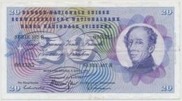1976 - 20 Franken Note - Schweiz, Suisse, Svizzera - Wenig Gebraucht - Suiza