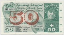 1961 - 50 Franken Note - Schweiz, Suisse, Svizzera - Wenig Gebraucht - Svizzera