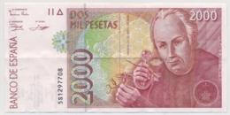 ESPAÑA / SPAIN 2000 PESETAS 1992 24. Abril - BUEN ESTADO - Wenig Gebraucht, Fast Neu - [ 4] 1975-…: Juan Carlos I.