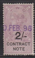 GREAT BRITAIN Queen Victoria Revenue - 2 Shilling Contract Note - Steuermarken