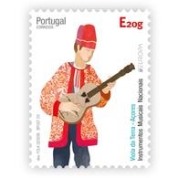 Portugal ** &  Self Adhesive Azores, Musical Instruments, Tradicional Guitar 2020 (78881) - 1910 - ... Repubblica