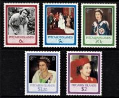 Pitcairn Islands 1986 Queen's 60th Birthday Set Of 5 MNH - Briefmarken