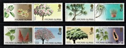 Pitcairn Islands 1983, 1987 Trees 1st & 2nd Issues Sets Of 4 MNH - Briefmarken