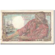 France, 20 Francs, 20 F 1942-1950 ''Pêcheur'', 1944-02-10, SUP, Fayette:13.8 - 20 F 1942-1950 ''Pêcheur''