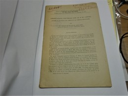 OBSERVATIONS SUR LE N DU CANTAL (entre Plateau Du Limon Et Chenal Houiller) Mme BOISSE DE BLACK DU CHOUCHET 1954 - Auvergne