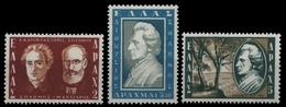 Griechenland 1957 - Mi-Nr. 651-653 ** - MNH - Solomos - Greece