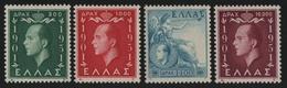 Griechenland 1952 - Mi-Nr. 592-595 ** - MNH - König Paul I (I) - Unused Stamps
