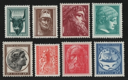 Griechenland 1955 - Mi-Nr. 624-631 ** - MNH - Antike Kunst (III) - Unused Stamps