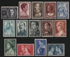 Griechenland 1956 - Mi-Nr. 637-650 ** - MNH - Königinnen & Könige (III) - Unused Stamps