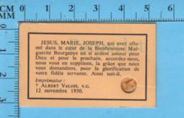 Relique De Poche - 3 Eme Categorie -Marguerite Bourgeoys - Bois De Cercueuil - Religion & Esotérisme