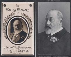 King Edward VII The Peacemaker Funeral In Memorandium 2X Postcard Bundle - Familles Royales