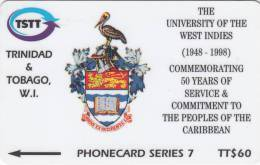 TRINIDAD & TOBAGO(GPT) - 50 Years Of University Of The WEST INDIES, CN : 245CTTA(normal 0), Tirage 60000, Used - Trinidad & Tobago