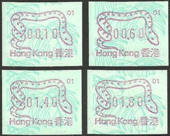 HONG KONG 1989 Chinese New Year Snake FRAMA SET:4 #1 - Hong Kong (...-1997)