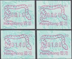 HONG KONG 1989 Chinese New Year Snake FRAMA SET:4 #2 - Hong Kong (...-1997)