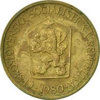 Monnaie, Tchécoslovaquie, Koruna, 1980, TTB, Aluminum-Bronze, KM:50 - Tschechoslowakei