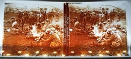 FERME DE CUSSY TIRAILLEURS SENEGALAIS BIVOUAC CRAONNE AISNE GUERRE 14-18 PHOTOGRAPHIE PLAQUE VERRE STEREOSCOPIQUE - Unclassified
