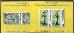 Korea  1971   Sc#781a & #786a     Souv Sheets  MNH   2016 Scott Value $24 - Korea (Süd-)