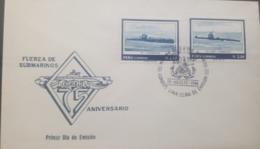 U) 1986, PERU, SUBMARINE FORCE ANNIVERSARY, FDC - Peru