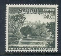 Nauru 1954 Pictorials, Buada Lagoon 2/6d MUH - Nauru