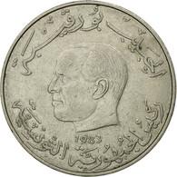 Monnaie, Tunisie, Dinar, 1983, Paris, TB+, Copper-nickel, KM:304 - Tunisia