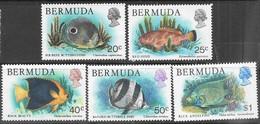 Bermuda   1978  Sc#371-2, 374-6  5 Diff Fish To The $1 MH  2016 Scott Value $4.25 - Bermuda