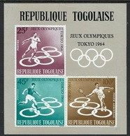 1964Togo437-439/B15b1964 Olympic Games In Tokio - Summer 1964: Tokyo