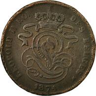 Monnaie, Belgique, Leopold II, 2 Centimes, 1874, TTB, Cuivre, KM:35.1 - 1865-1909: Leopold II