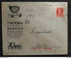 Bayern 1918, Bedarfsbrief MÜNCHEN, Therma Spezial-Fabrik - Beieren