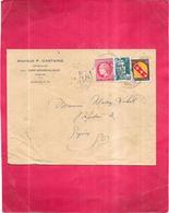 DEPT 33 - Docteur CASTAING Vétérinaire à GAJAC SAINT MEDARD EN JALLES - Enveloppe De 1947 - - France