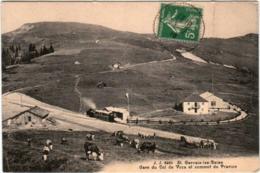 6GKS 1O5 CPA - SAINT GERVAIS LES BAINS -  GARE DU COL DE VOZA ET SOMMET DU PRARION - Saint-Gervais-les-Bains
