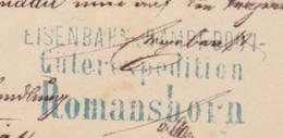 EISENBAHN DAMPFBOOT ROMANSHORN  /  TOLLER BELEG 1879 - Covers & Documents