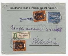 Saar Netter R-Brief Mit MIF+AKs - 1920-35 Saargebied -onder Volkenbond