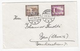 Drittes Reich Brief Mit WHW-Frankatur Von Geraberg In Die Schweiz - Alemania