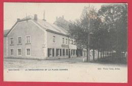 Bastogne - La Gendarmerie Et La Place Carrée - 1906 ( Voir Verso ) - Bastenaken