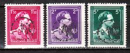 724N/P**  Leopold III Col Ouvert Surchargé -10% - GRAMMONT - Série Complète - MNH** - LOOK!!!! - 1946 -10%