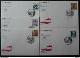 Österreich 2003, FDC Ergänzungsmarken - 0,04 / 0,07 / 0,13 / 0,17 / 0,27 Euro - 1945-.... 2. Republik