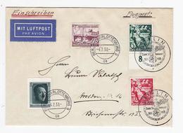 Drittes Reich R-FLP Brief Mit WHW-Frankatur SST - Alemania