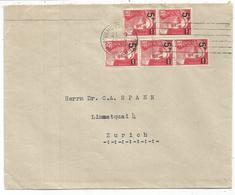 GANDON N°827 X5 LETTRE MULHOUSE 28.4.1949 POUR SUISSE AU TARIF - 1945-54 Marianne De Gandon