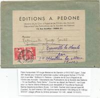 GANDON 15FR ROUGE PAIRE BANDE COMPLETE  AU TARIF 4EME ECHELON RARE - 1945-54 Marianne De Gandon