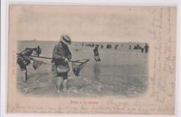 CPA 62 ETAPLES  Pêche à La Crevette - Etaples