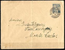617 - MONACO - 1895 - COVER - MONTECARLO CANCEL - Timbres