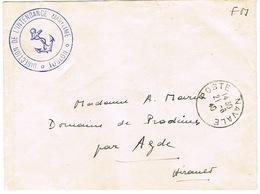 ENVELOPPE EN FRANCHISE DIRECTION INTENDANCE MILITAIRE DE TOUULON JUIN 40 - Storia Postale