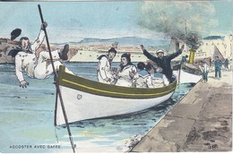 CPA  FRANCE - MILITARIA Humoristique -  Accoster Avec Gaffe    - A 061 - Humoristiques