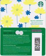 GIFT CARD - STARBUCKS - HUNGARY - HU-SB-022I - YELLOW FLOWERS WITH I - Gift Cards