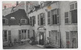(RECTO / VERSO) CHAUMONT - PENSIONNAT DE Mlle BOUQUILLARD - ENTREE RUE GIRARDON - CLASSES - SALLE DE DESSIN - CPA - Chaumont