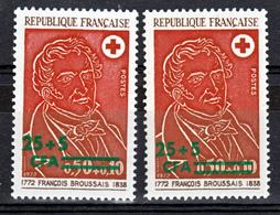 Réunion 413 CFA Variété Rose Et Rouge Et Normal Unicolore Croix Rouge Neuf * * TB MnH SiN CHARNELA - Isola Di Rèunion (1852-1975)