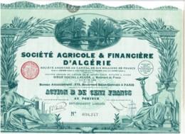 ALGERIE-AGRICOLE & FINANCIERE D'ALGERIE. STE ...   DECO - Other