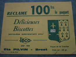 Délicieuses Biscottes Fabriquées Spécialement Pour L'ECO Par Les ETS PILVIN à BREST - Zwieback