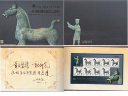 BRONZE HORSE PFERD CHEVAL ARCHAEOLOGY ARCHÉOLOGIE CHINA CHINE 2003-23 Mi 3492 Sheet In Folder Asia Int. Stamp Exhibition - Arqueología