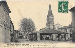 LAMOTHE-MONTRAVEL : PLACE DU MARCHE ET L'EGLISE - Other Municipalities